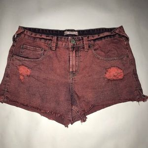 Free People over died shorts